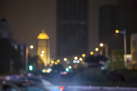 温暖模糊的夜景城市天津图片