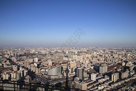 蓝天的京城图片