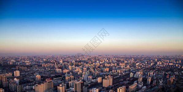 北京城日落图片