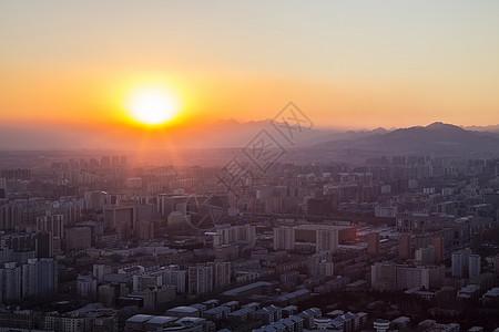 日落的京城图片