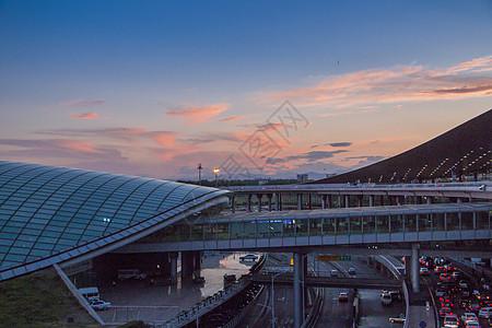 日落的首都机场图片