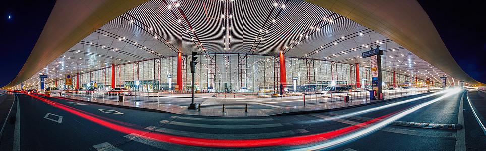 夜色 首都机场T3图片