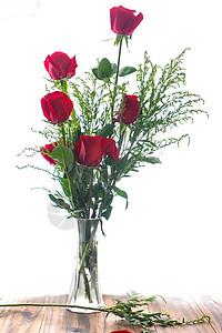 玻璃瓶里玫瑰花图片