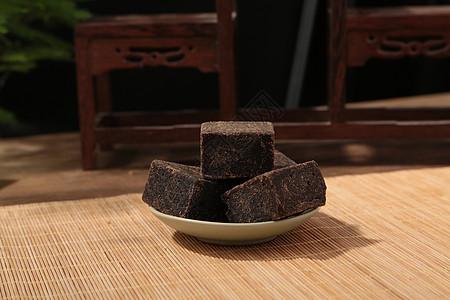 古法红糖方糖摄影图图片