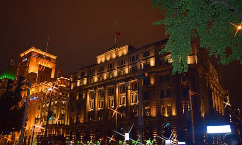 美丽的高楼灯光夜景图片