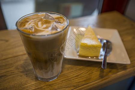冰咖啡甜点图片