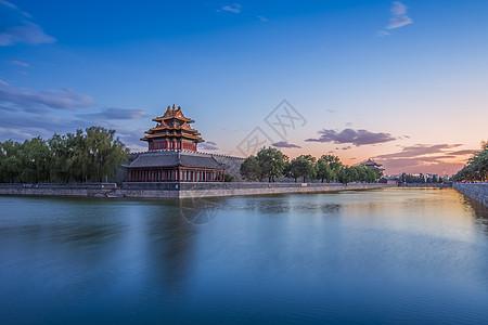晚霞紫禁城图片