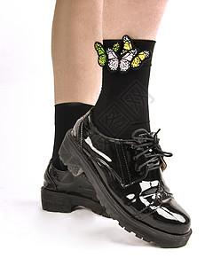 女士蝴蝶袜子图片