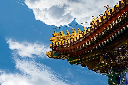 北京故宫屋顶神兽图片