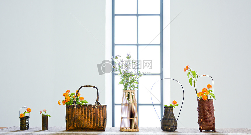小雏菊花篮图片