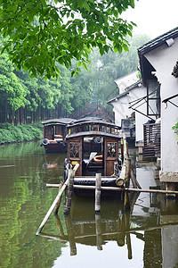 美丽的乌镇小船美景图片