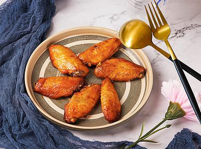 蜜汁鸡翅图片