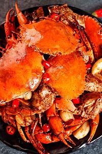 干锅螃蟹图片