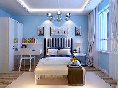 地中海风格的卧室图片
