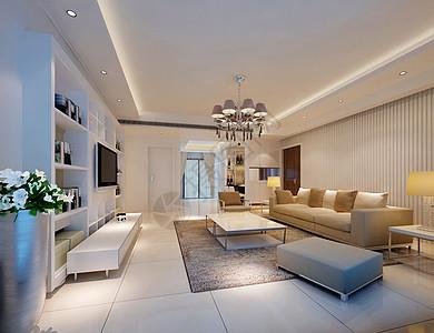 现代简约客厅背景墙效果图图片