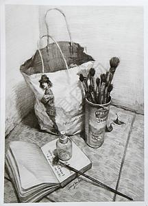 精致的黑白灰素描作品图片