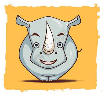 可爱的小犀牛动画图片