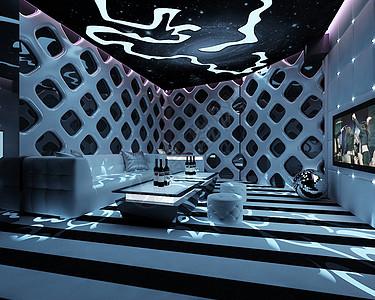 现代风格的KTV包房效果图图片