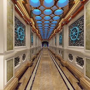 地中海风格的KTV走廊图片