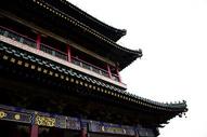 西安鼓楼古建仰视图片