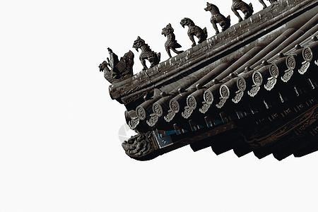 西安钟鼓楼屋檐图片