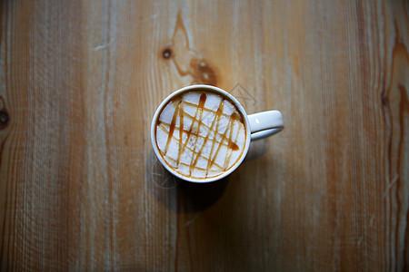 焦糖玛奇朵咖啡图片
