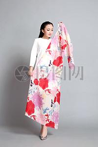 印花设计精美花型花卉花型丝巾图片