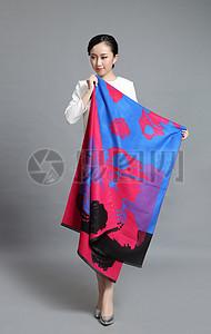 精美花型花卉花型丝巾图片