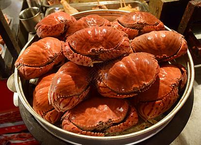 红黄色的海蟹图片