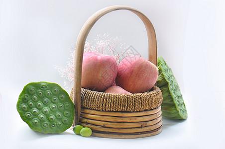 水果苹果 莲蓬图片