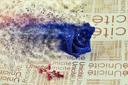 沙漠风暴蓝色妖姬图片