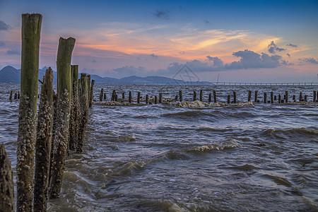 日落海峡图片