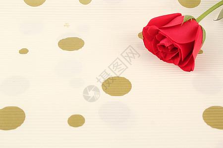 红色玫瑰七夕背景纸摆拍图片