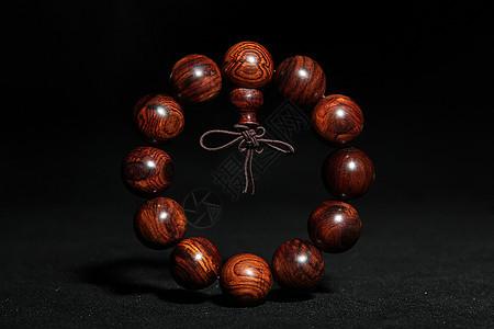 紫檀佛珠手链图片