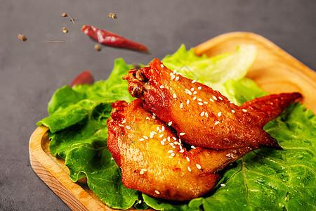 烤鸡翅图片