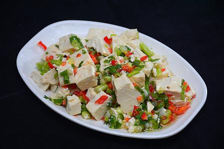 小葱拌豆腐图片