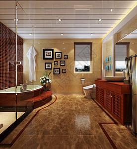 卫浴小卫生间防水装修效果图图片