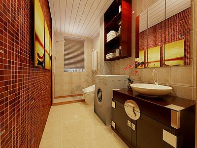 复古风格的卫生间图片