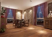 中式茶室效果图图片