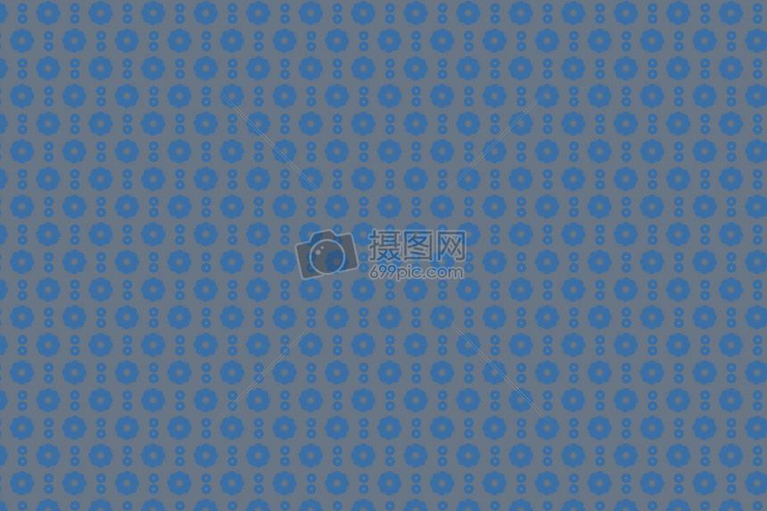 蓝色小花背景图案