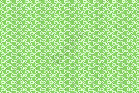 绿色小雏菊花纹背景图片