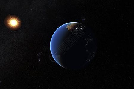 银河中的地球图片