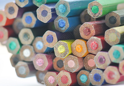 彩铅笔头特写图片