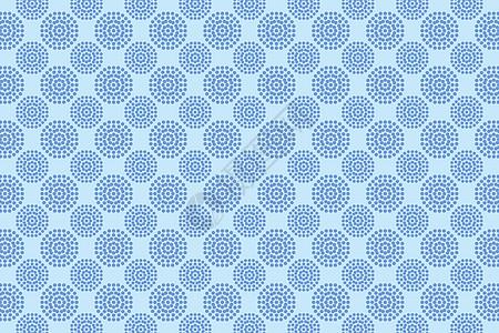 蒲公英圆点几何图案图片