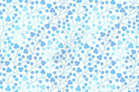 蓝色树叶图案图片