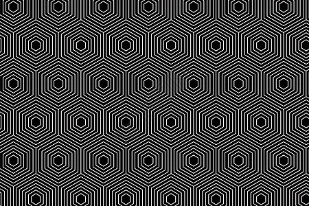 黑色六边形图案背景色图片