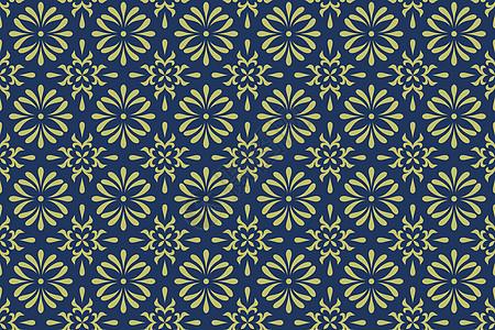 蓝色墙纸布料几何图案背景图片
