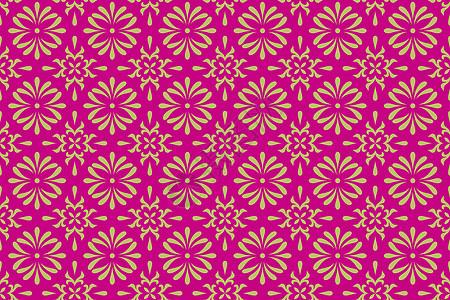玫红色墙纸布料几何图案背景图片