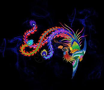 传统彩色凤凰图片图片