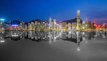 夜幕下的香港图片